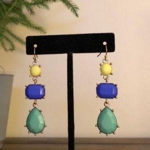 Green Scheme Dangle Earrings